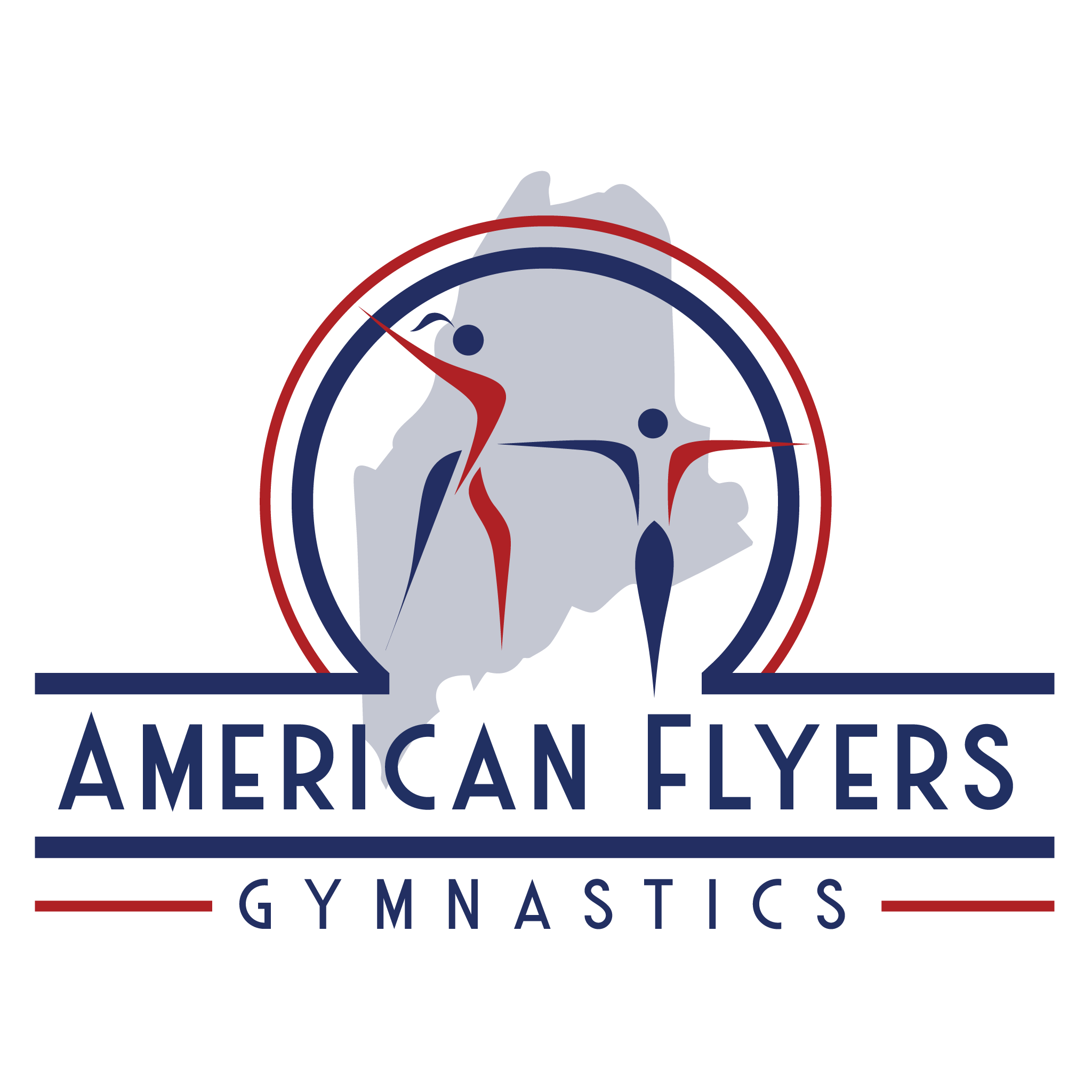 The American Flyers Gymnastics Team logo