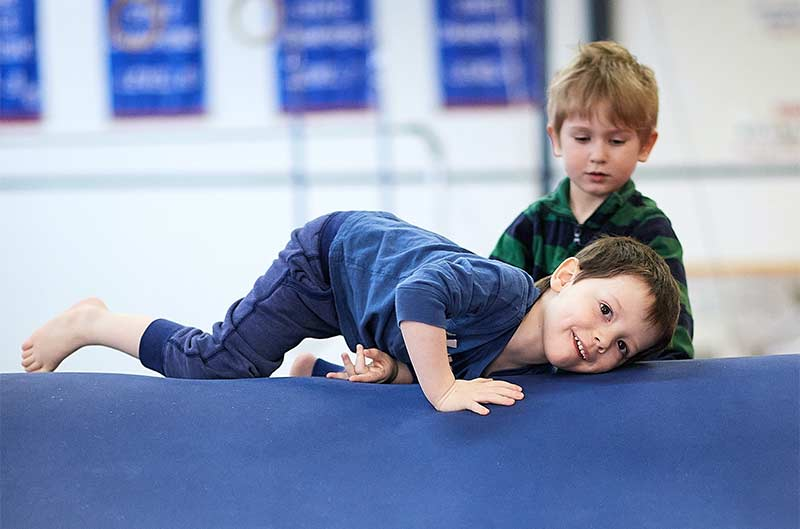 Boys Recreational Classes - tumbling on mats