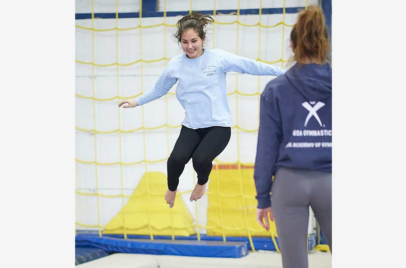 Girls Recreational Classes - trampoline