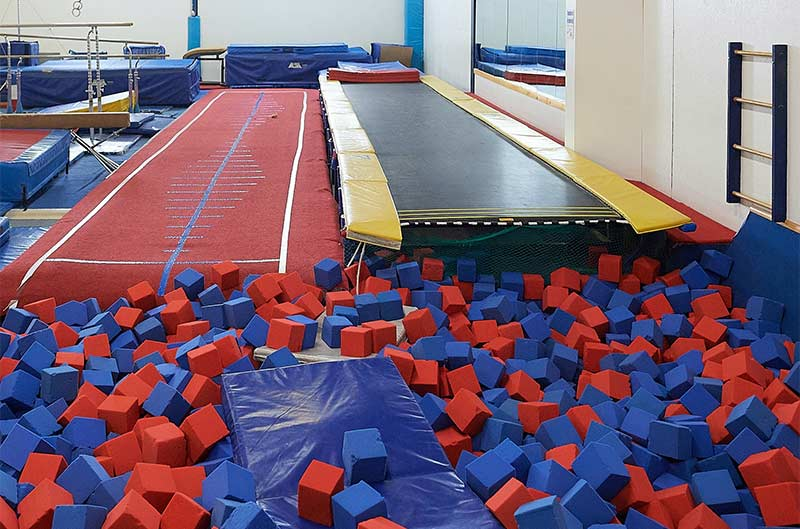 The Foam Pit at Maine Academy of Gymnastics