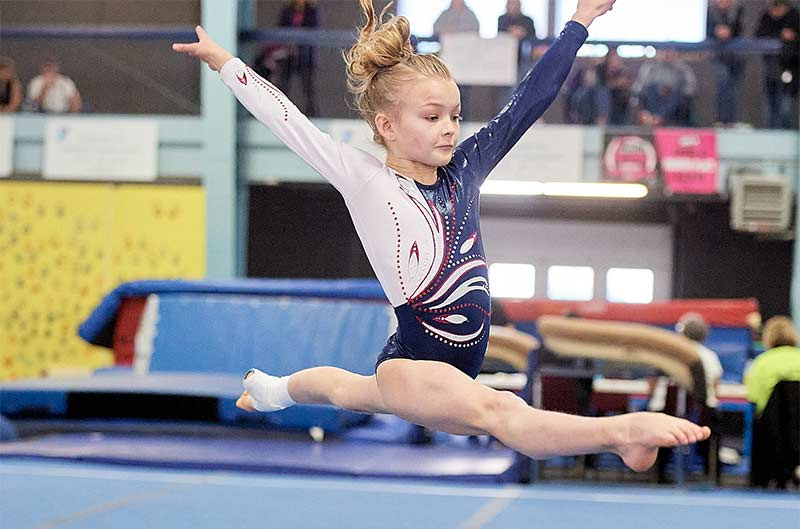 Girls Competitive Gymnastics - Floor Routine