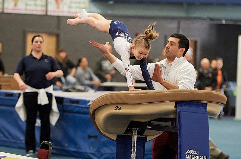 Girls Competitive Gymnastics - vault